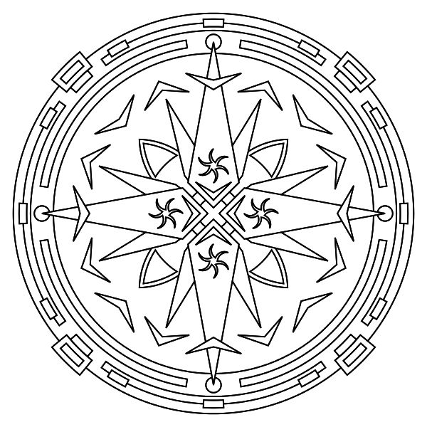 Print Mandala Coloring Pages