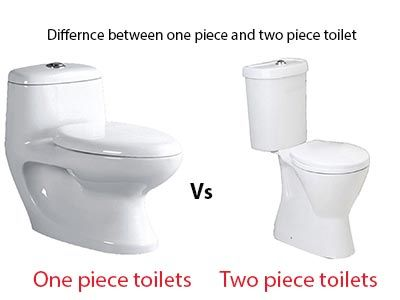 Find the Difference Between one piece toilets vs Two piece toilets here.We Compared and listed difference between single piece toilet vs coupled toilet.