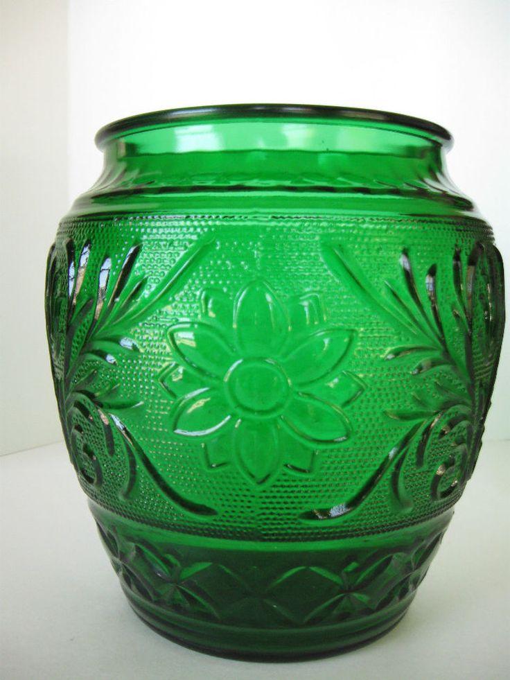 36 Best Hoosier Dark Green Glass Images On Pinterest