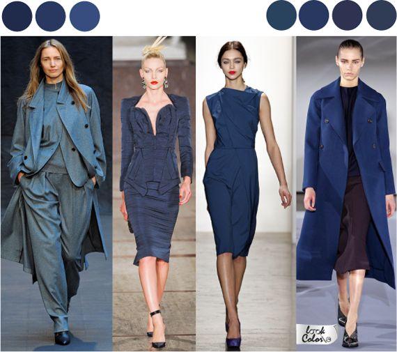 Базовые цвета в одежде. Синий цвет