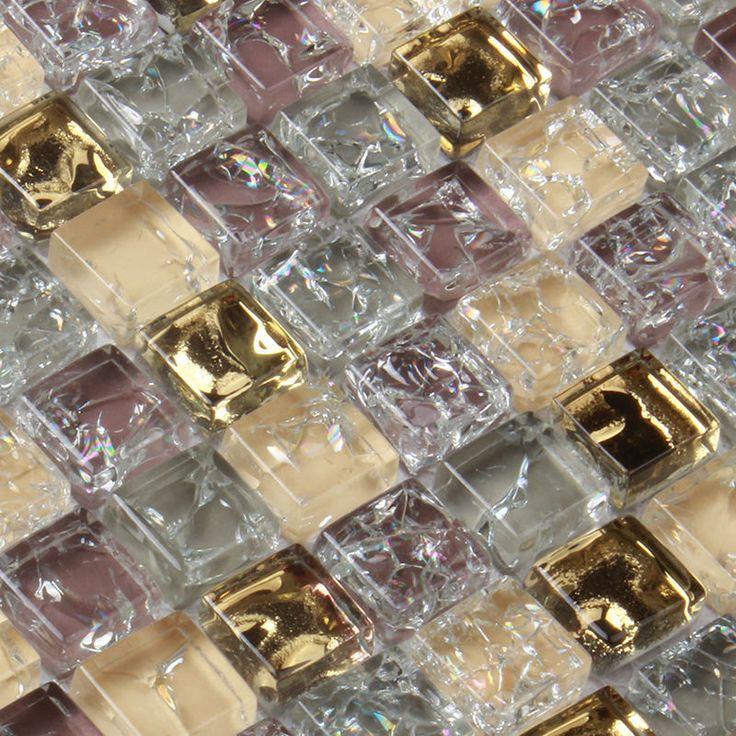 Ouro Cristal roxo banhado a Ouro mosaico de vidro telha MD YG001 decoração backsplash Cozinha parede azulejo piso de ladrilho em Papéis de parede de Melhoramento Da casa no AliExpress.com | Alibaba Group
