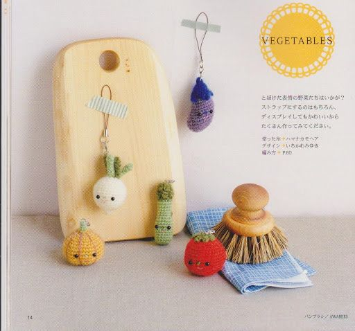 FREE Amigurumi Mini Vegetables Cell Phone Charm Crochet ...
