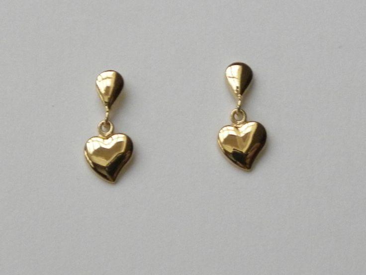18 karaat gouden oorbellen €112 (nr2579)