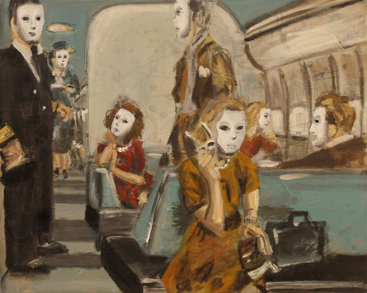 """""""First Class"""" 2013, oil on canvas"""
