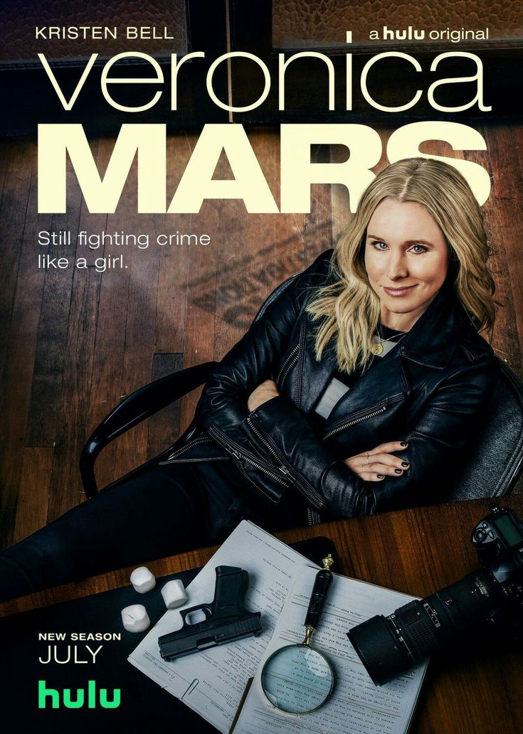 The poster for the new season of VERONICA MARS on Hulu.