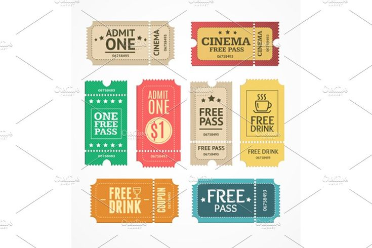Coupon and tickets set brochure template psd brochure
