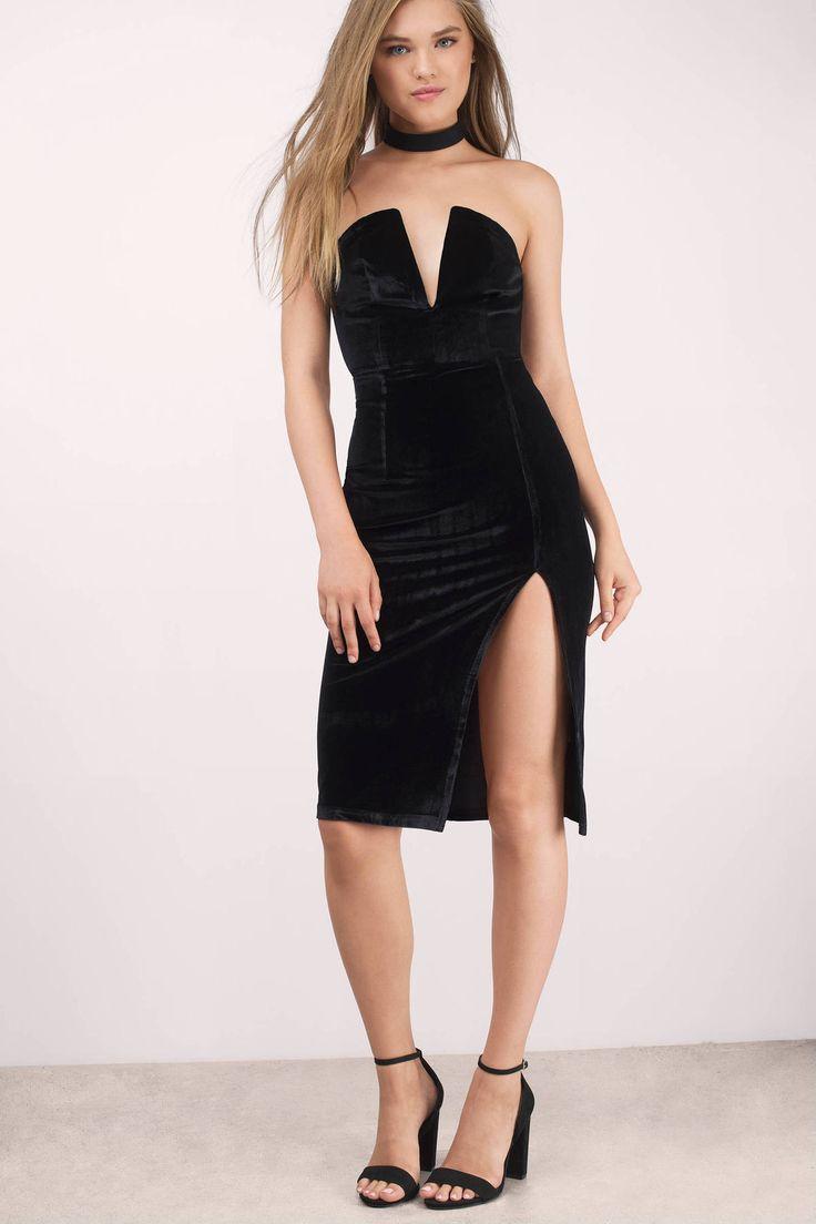 Strike A Pose Velvet Bodycon Dress at Tobi.com #shoptobi