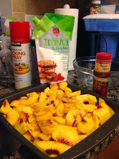 Mommy Made That!: low carb peach cobbler dessert