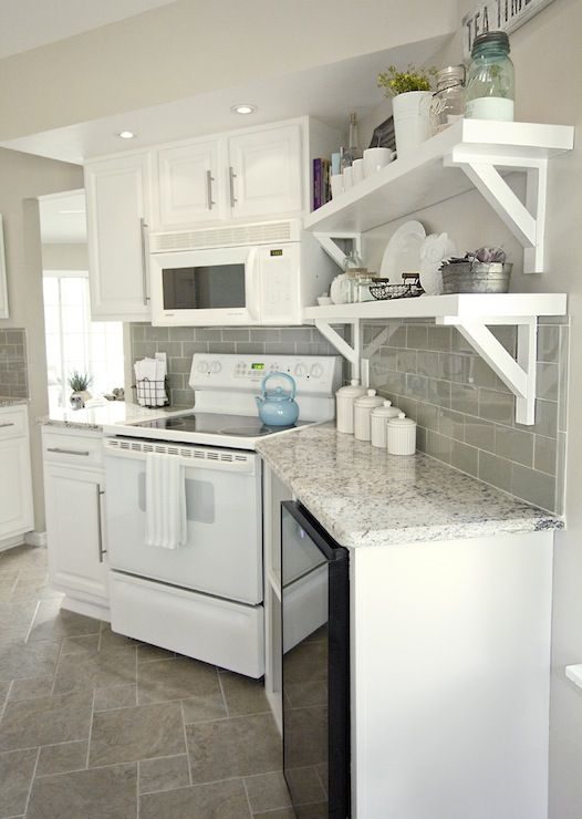 Jenna sue design stunning white and gray kitchen with for Door design kashmir