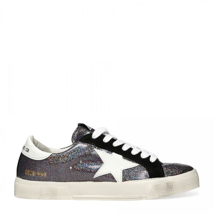 May glitter leather sneakers