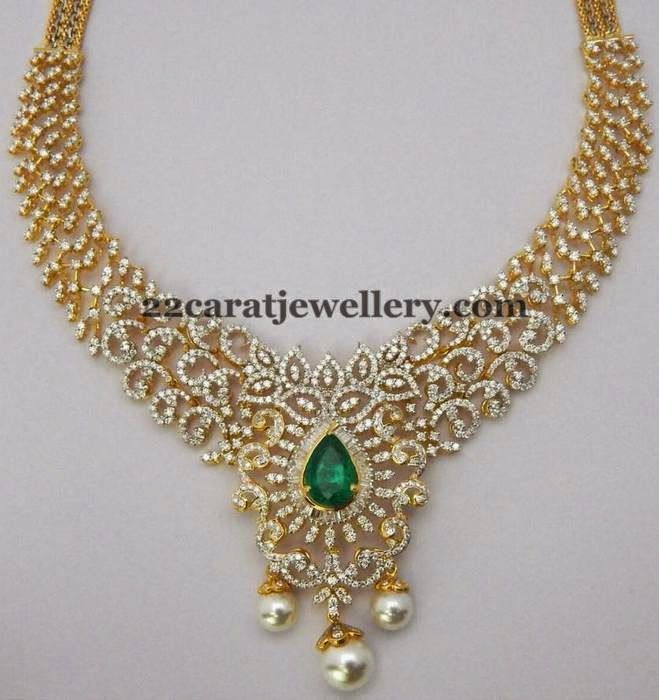 Jewellery Designs: 6 Lakhs Diamond Sets Gallery