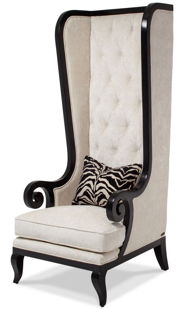 Onyx High-Back Chair in Black and White Color  High back chairs
