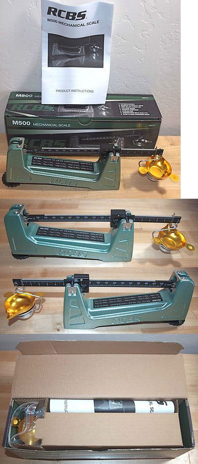Powder Measures Scales 71119: Rcbs Model M500 Mechanical Reloading Scale-(98915)-Nib -> BUY IT NOW ONLY: $79.99 on eBay!