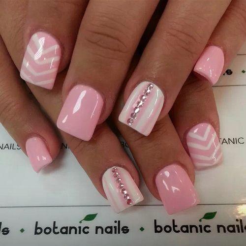 Fashion Nail Art Designs Game Pink Nails Manicure Salon: Best 20+ Chevron Acrylic Nails Ideas On Pinterest