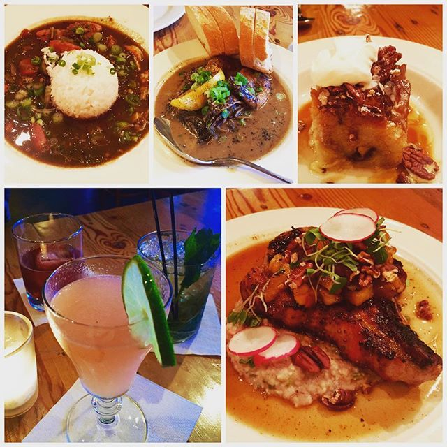Cajun-creole bistro, food here was great, especially the Louisiana shrimp!! #portlandfood #foodie #visitportland #yummy #dinner #gumbo #jambalaya #porkchop #grits #louisianashrimp #cajun #creole #cocktails