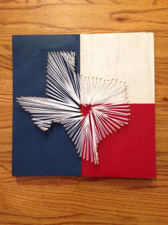 The 25 best texas string art ideas on pinterest string art string art on a wooden background painted like the texas flag gold nails with white string prinsesfo Image collections