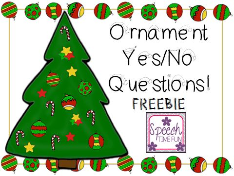 Looking for a new way to work on answering yes/no questions for the holiday season?!  Check out my newest freebie added to my TpT store!! What's included and how can you use it? An empty Christmas tree 16 ornaments with yes/no questions on the cards A review worksheet is provided as well Students can answer …