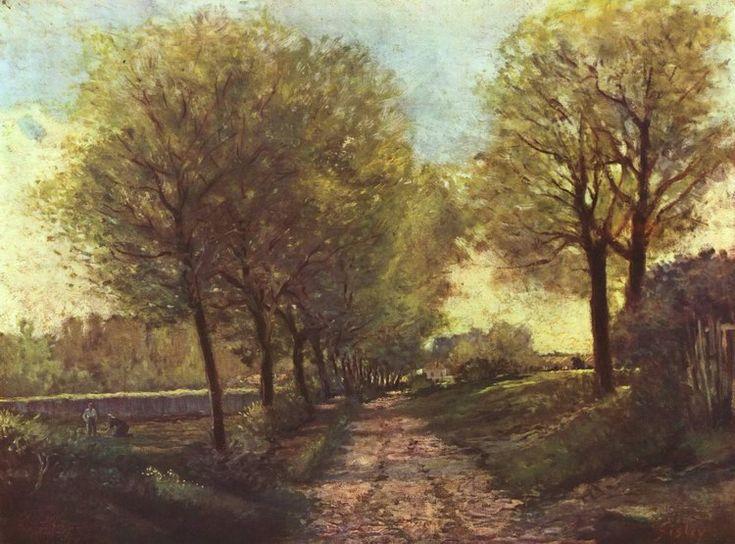 """""""Viale alberato vicino al paese1866"""" Alfred Sisley"""