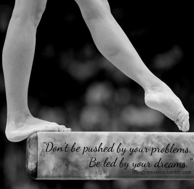 Don't be pushed by your problems. Be led by your dreams.