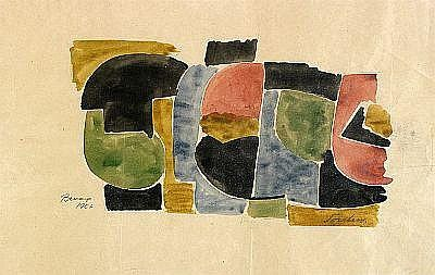 TORSTEN ANDERSSON 1926-2009 Komposition Signerad