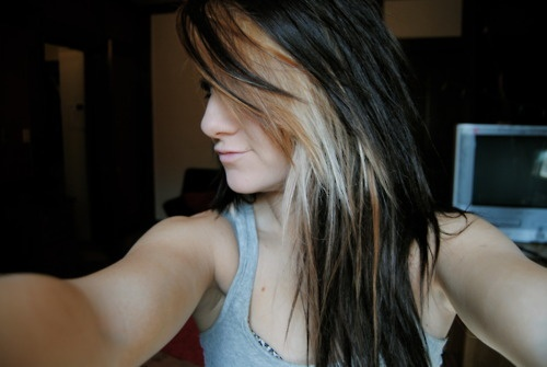 Nice color: Scenes Hairs, Hairs Idea, Black Hairs, Hairs Styles, Blondes Highlights, Hairs Color, Dark Hairs, Beauty, Nice Color