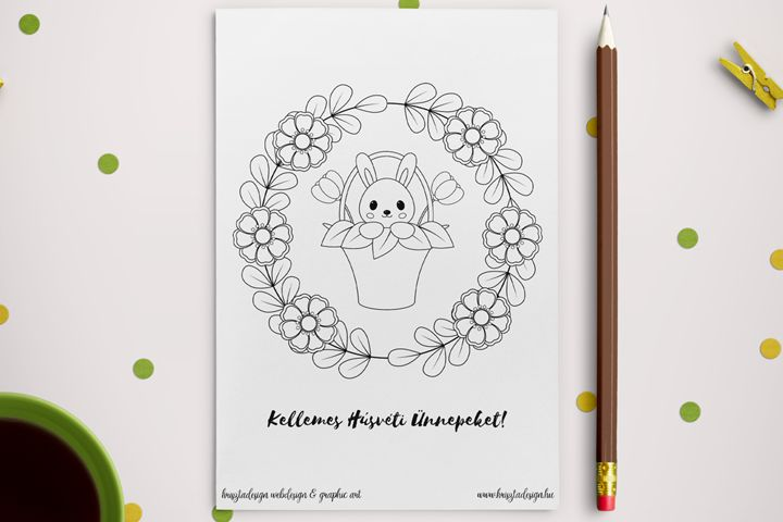 Free downloadable easter coloring page