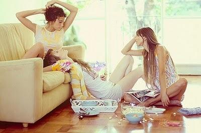 looks like me & my friends after a sleepover :)