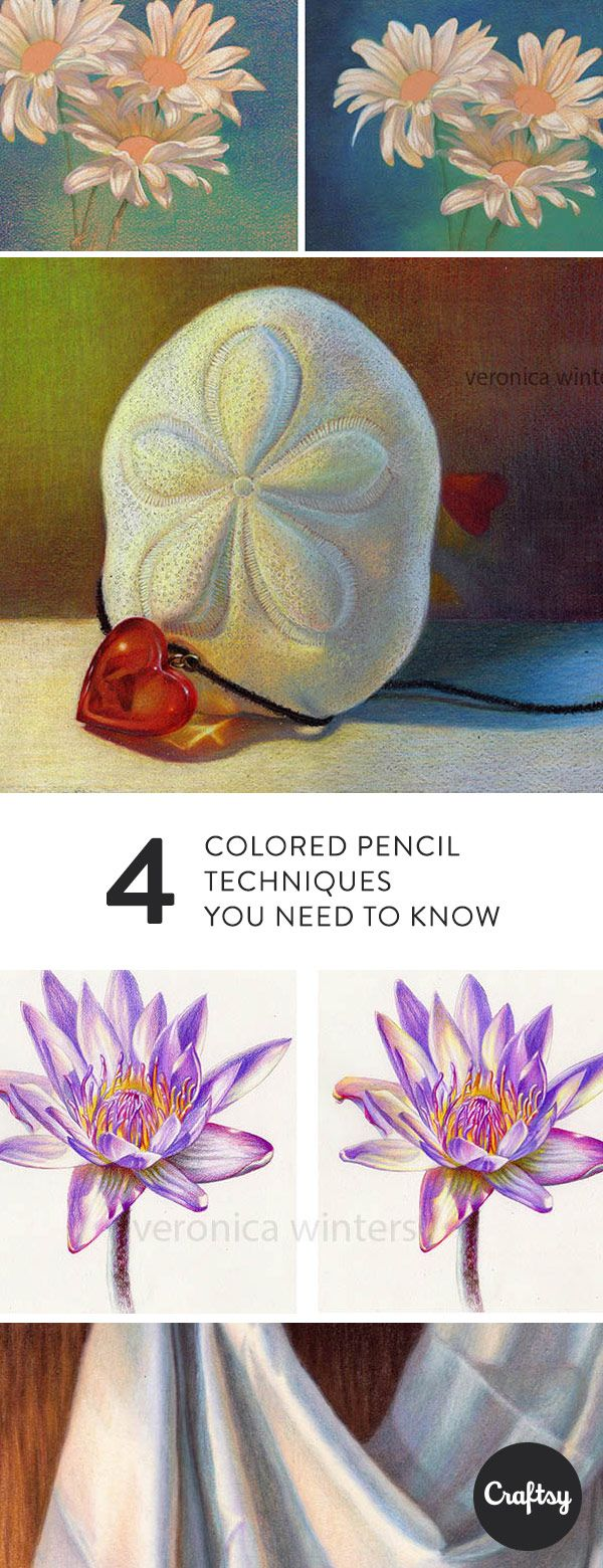 Learn some of the most basics colored pencil techniques that you need to create realistic drawings. Once you know these key colored pencil techniques, you'll be abel to add texture, dimension and rich color to your drawings.