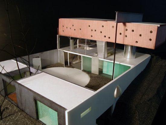 Maison bordeaux rem koolhaas maquette with model maison for Maquette de maison