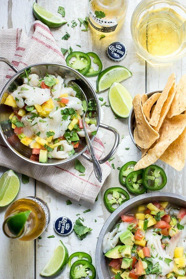 Mango and Jalapeño Ceviche – Ceviche is one of our favorite summer appetizers and it's best served with an ice-cold beer and some salty tortilla chips. Sit outside in the sunshine and start dipping!