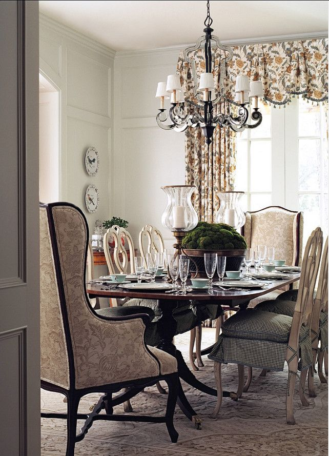 Dining Room Design Ideas. Beautiful traditional dining room with great French decor. #DiningRoom #HomeDecor #Interiors