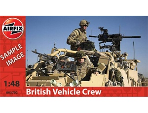 The Airfix British Army Vehicle Crew Model Figures in 1/48 scale from the plastic figure models range accurately recreates the real life modern British soldiers.    This plastic figures kit requires paint and glue to complete.