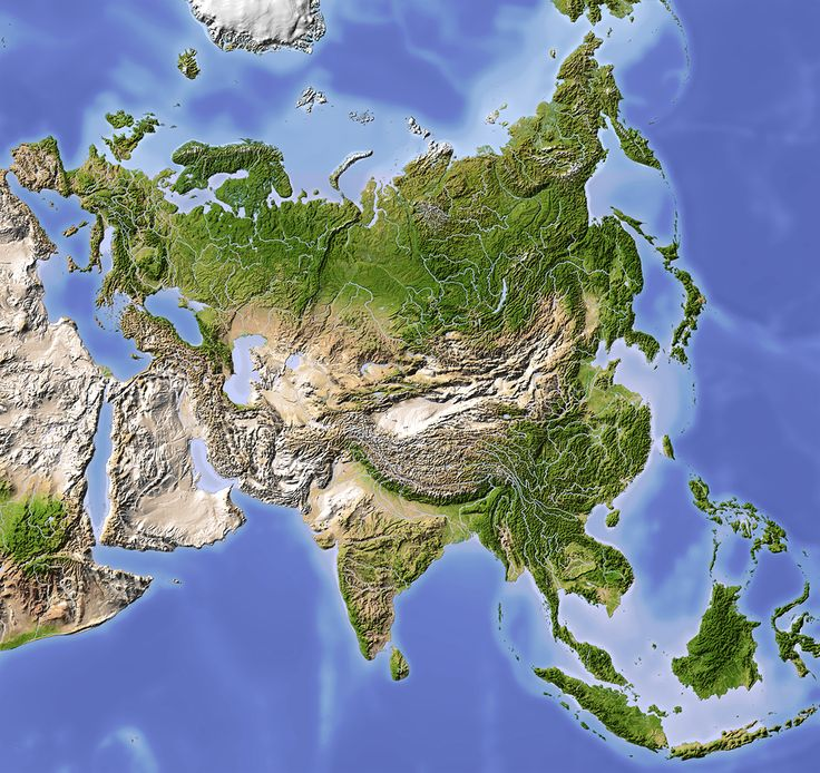 Asia Shaded Relief Map 1048 best geography images on Pinterest