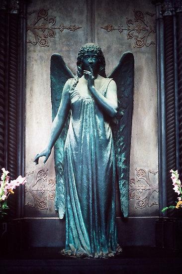 Blue #Angel, Cimitero Monumentale di Staglieno, Genoa, Italy by Peter Morse