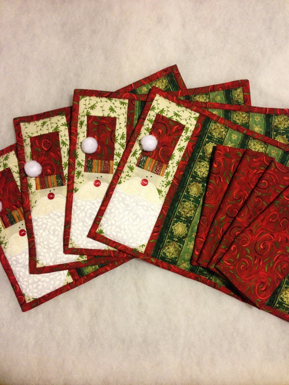 Santa Quilted Placemats