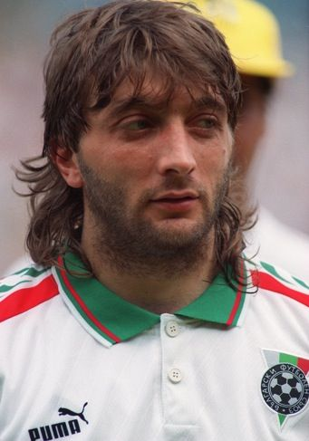 Trifon 'The Wolfman' Ivanov. Bulgarian midfielder. Looks like the Iron Curtain fell on his face.