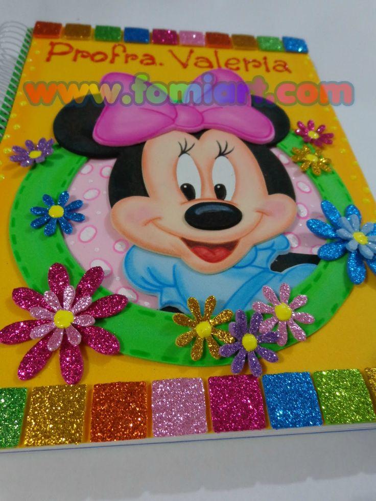 Libreta Decorada: Minnie Mouse Tamaño Profesional   Fomiart
