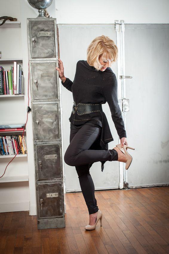 pantalon push up, gilet modulable et ceinture cuir by Atomes  2POSEI, 2ATHENES, 2NYKOS
