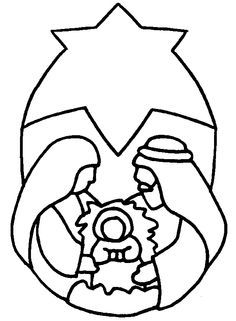 Nativity Coloring Page Stained Glass