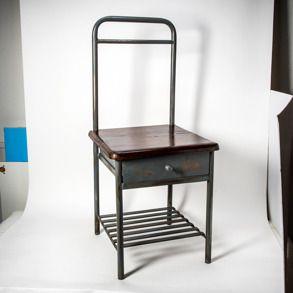 Stol/nattduksbord  #wearetellingstories #inredning #möbler #industrial_design #industrial_furniture #industrial_interior #industriel_inredning #heminredning #inredningstips #steampunk