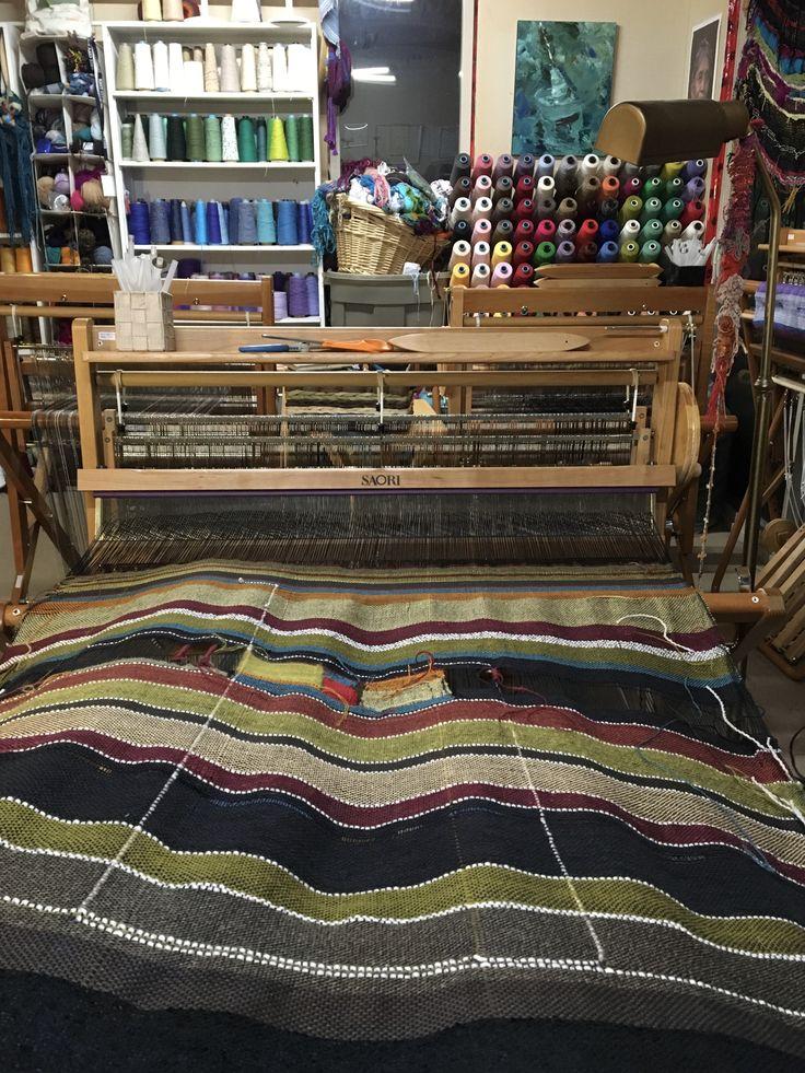"WX90 Weaving 36"" / 90 cm SAORI loom www.saorisaltspring.com"