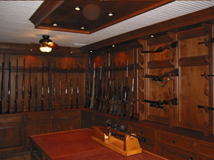David 39 s gun safe room outdoor country hunting for Home gun room