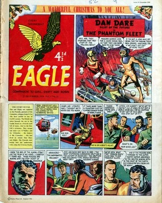 The Eagle - comic Dan Dare and the Fearsome Mekon. Plus the Cut Aways. Collected on Saturday from the Newsagents whilst my mum paid the paper bill.