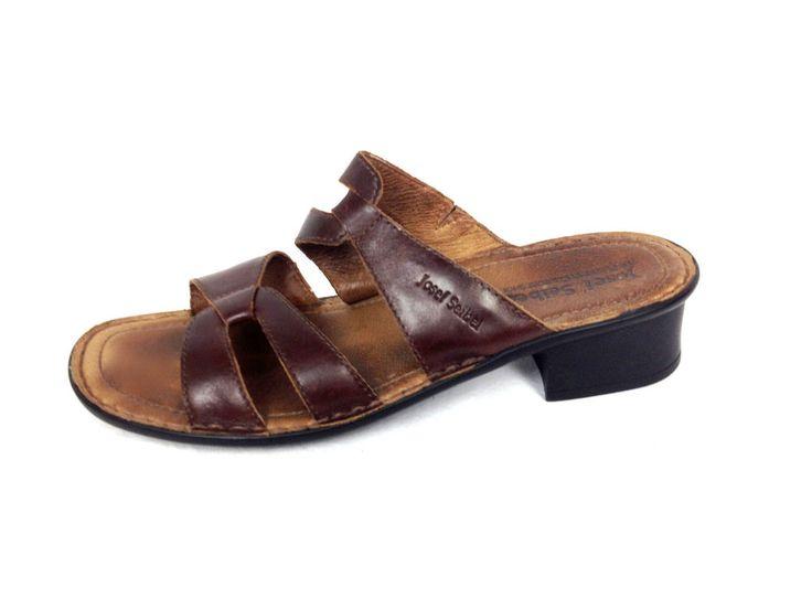 Josef Seibel Shoes Womens 11 42 Brown Leather Sandals #JosefSeibel #Slides