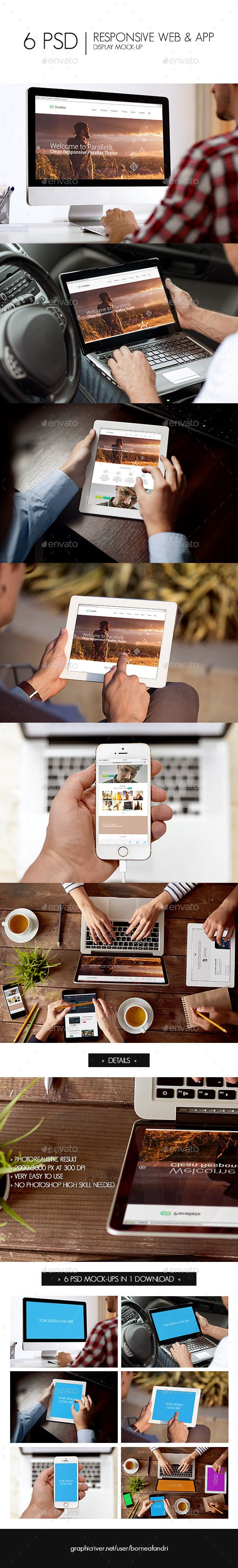Responsive Web & App Display Mock-Up. Download: http://graphicriver.net/item/responsive-web-app-display-mockup/11190848?ref=ksioks