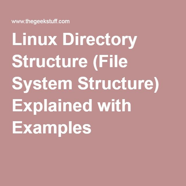 Linux Directory Structure (File System Structure