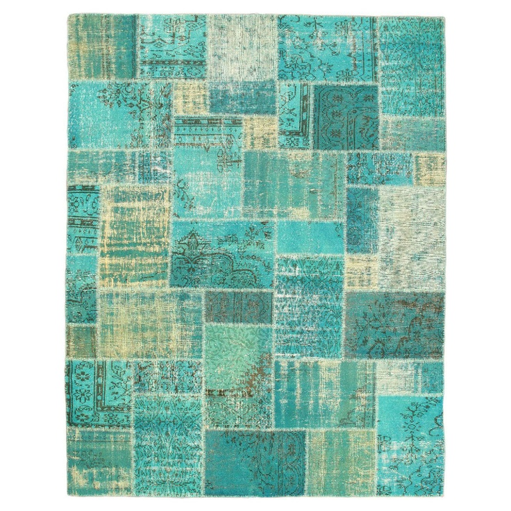 """8'3"""" x 10'7"""" Color Transition Patch Rug in Aqua - Beyond the Rack"""