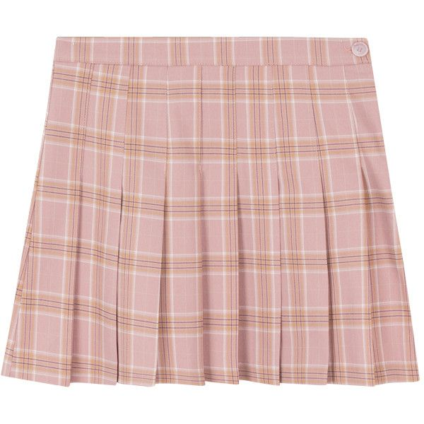 Classic Plaid Pleated Mini Skirt ❤ liked on Polyvore featuring skirts, mini skirts, high-waisted flared skirts, high-waist skirt, mini skirt, plaid pleated mini skirt and short skirts