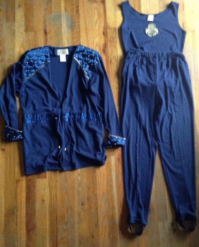 VTG-Ivana-Trump-3-Piece-Gymnastics-Track-Suit-Stirrup-Pants-Onesie-Jacket-M