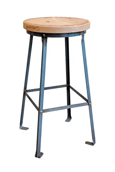 Union Wood Company Raw Industrial Stool
